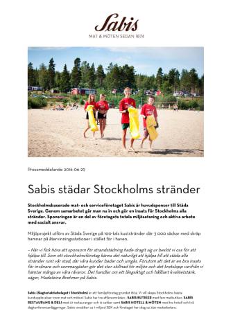 Sabis städar Stockholms stränder