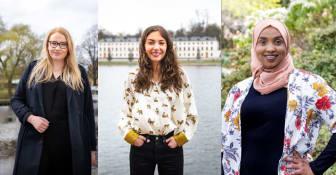 Kompassrosstipendiater 2021: Emina Sesto, Eleonora Svanberg, Muna Idow