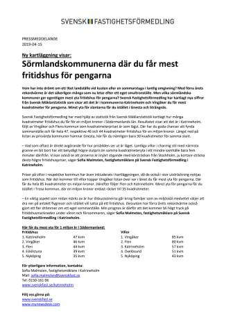 Ny kartläggning visar: Sörmlandskommunerna där du får mest fritidshus för pengarna