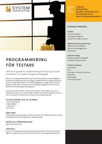 Programmering för testare