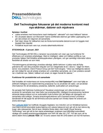 Dell Technologies fokuserar på det moderna kontoret med nya skärmar, datorer och mjukvara