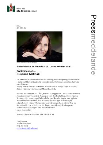 Stadsbiblioteket i Malmö: En timme med…Susanna Alakoski