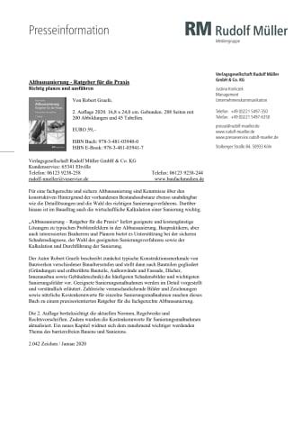 Altbausanierung - Ratgeber für die Praxis