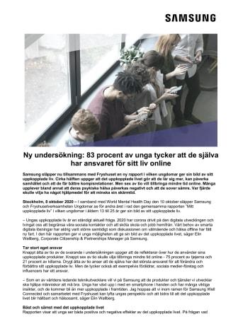 Ny undersökning: 83 procent av unga tycker att de själva har ansvaret för sitt liv online