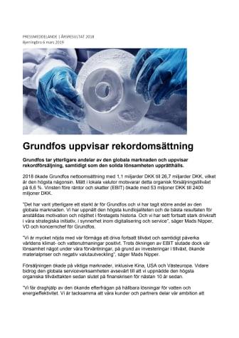 Grundfos uppvisar rekordomsättning