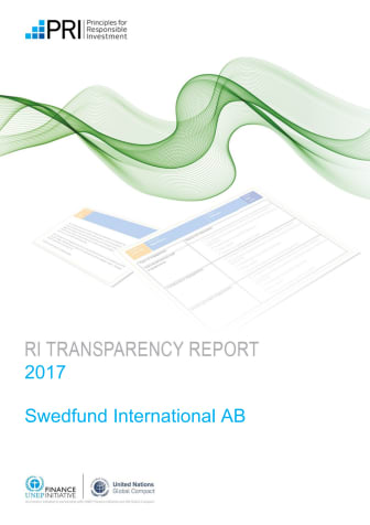 2017 Public Transparency Report for Swedfund International AB