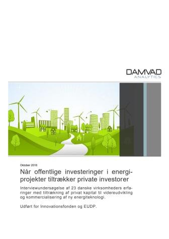 Når offentlige investeringer i energiprojekter tiltrækker private investorer, Damvad