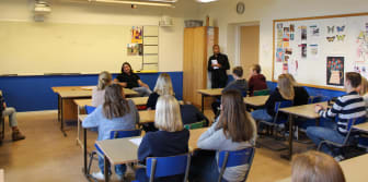 Representanter från Best Western Kom Hotel samt Best Western Plus Sthlm Bromma besöker Rålambshovskolan på Kungsholmen i Stockholm