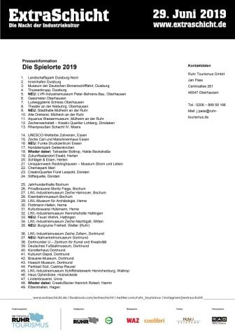 ExtraSchicht 2019_Spielorte