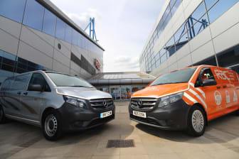 RAC and Mercedes-Benz branded technician vans
