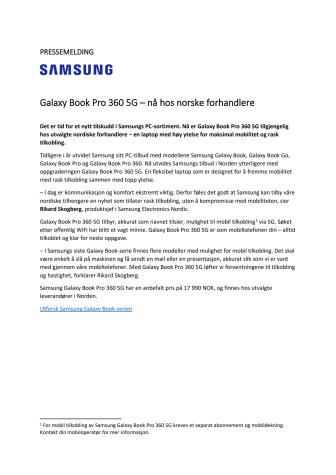 2021.10.07_Sales start_Galaxy Book Pro 360 5G_NO.pdf
