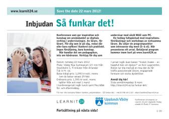 Världens mest innovativa lärare samlas i Väsby den 22 mars