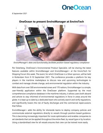 September 2021 - OneOcean - EnviroTech FINAL.pdf