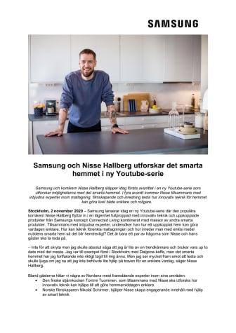 Samsung och Nisse Hallberg utforskar det smarta hemmet i ny Youtube-serie