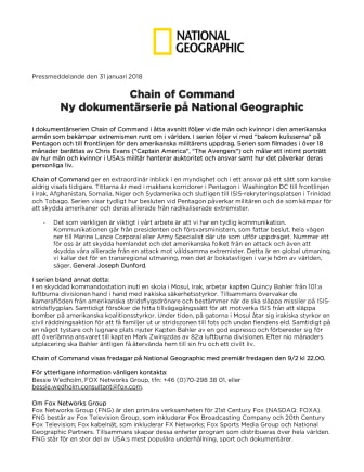 Chain of Command - Ny dokumentärserie på National Geographic