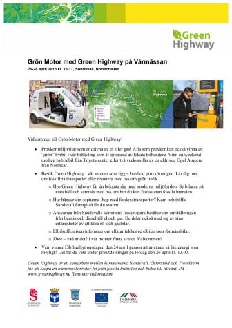 Grön Motor med Green Highway på Vårmässan i Sundsvall