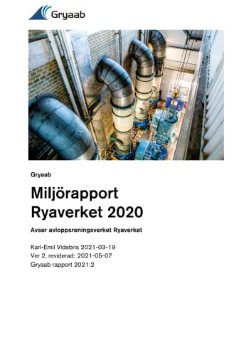 Miljörapport Ryaverket 2020