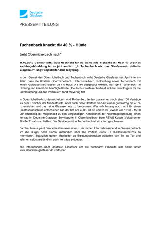 Tuchenbach knackt die 40 Prozent Hürde