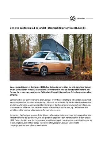 Den nye California 6.1 er landet i Danmark til priser fra 426.694 kr.