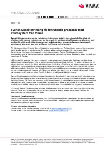 Svensk Däckåtervinning får lättrullande processer med affärssystem från Visma