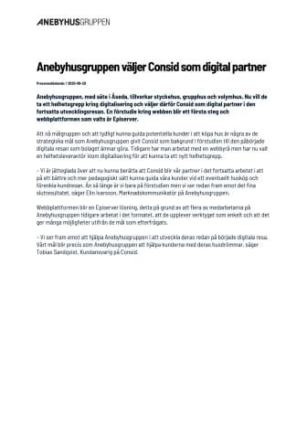 Anebyhusgruppen väljer Consid som digital partner