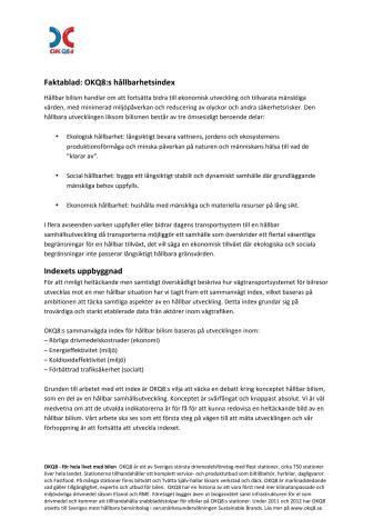 Faktablad index hållbar bilism