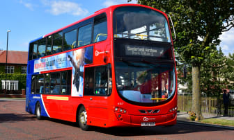 One of the Go North East Park and Ride buses for the Sunderland Airshow