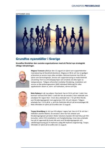 Grundfos nyanställer i Sverige