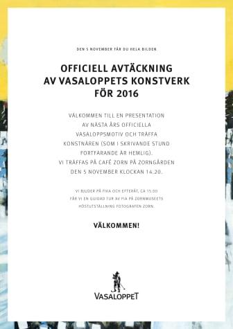 Pressinbjudan avtäckning årets motiv 2015