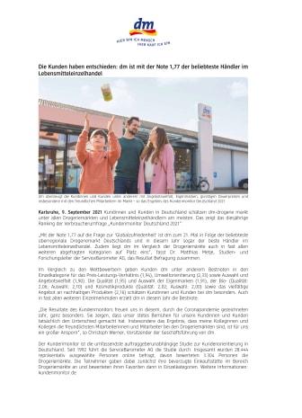 dm ist mit der Note 1,77 der beliebteste Händler im Lebensmitteleinzelhandel.pdf