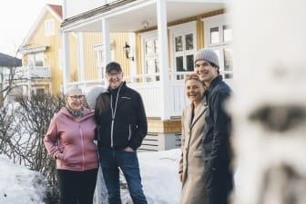 Eva och Lennart Lundmark samt Frida Markstedt och Simon Åström
