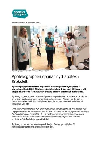 Apoteksgruppen öppnar nytt apotek i Krokslätt