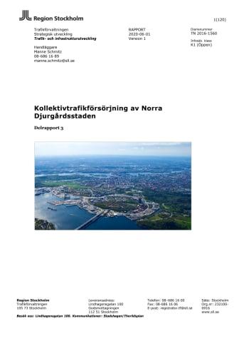 Rapport Kollektivtrafikförsörjningen av Norra Djurgårdsstaden