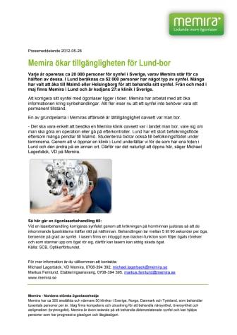Memira ökar tillgängligheten för Lund-bor