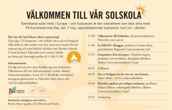Solskolan besöker Lund 7 maj - Soltältet på Stortorget och Solseminarium på kvällen