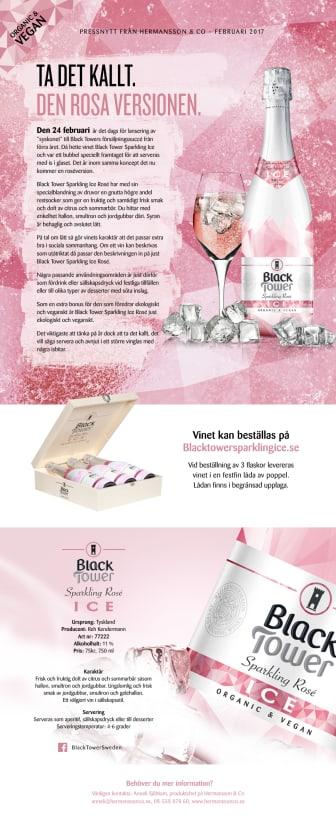 Nyhet - Black Tower Sparkling Ice Rosé!
