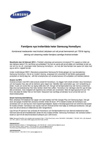 Familjens nya trollerilåda heter Samsung HomeSync