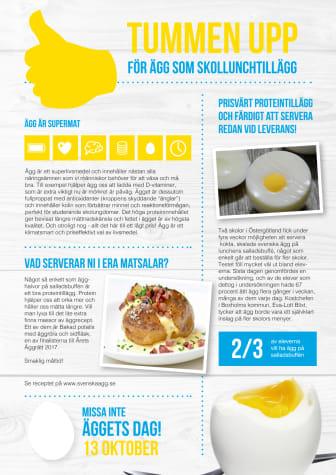 Tummen upp för ägg som skollunchtillägg