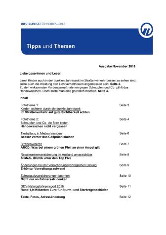 Tipps und Themen 11-2016
