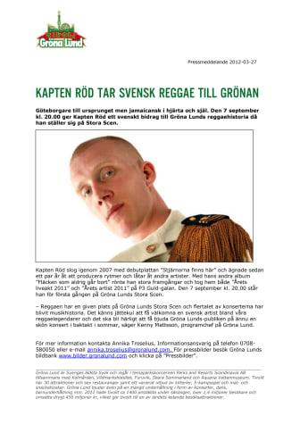 Kapten Röd tar svensk reggae till Grönan