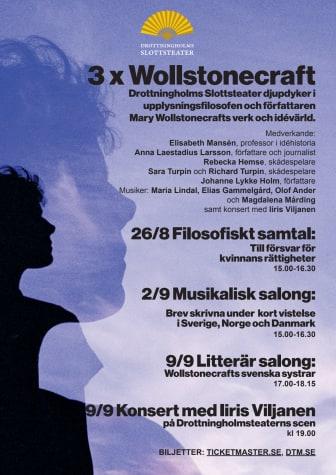 3 x Wollstonecraft på Drottningholms Slottsteater  informationsblad