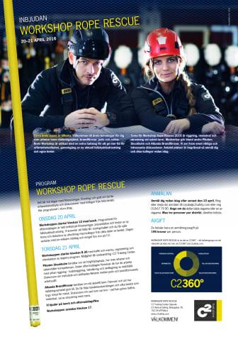 Workshop Rope Rescue 2016 - Program