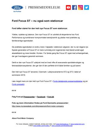 Ford Focus ST – nu også som stationcar