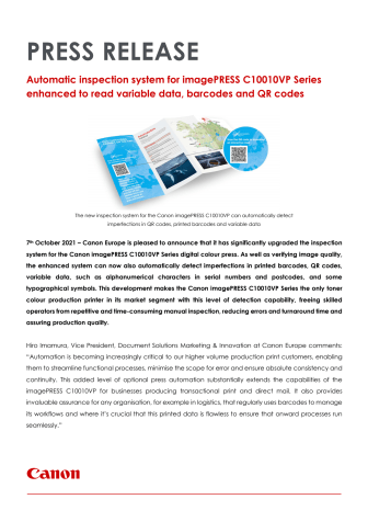 Press Release_C10010VP_InspectionSystemUpgrade_EM_FINAL.pdf