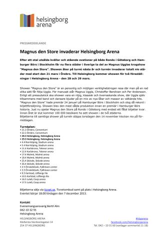 Magnus den Store invaderar Helsingborg Arena