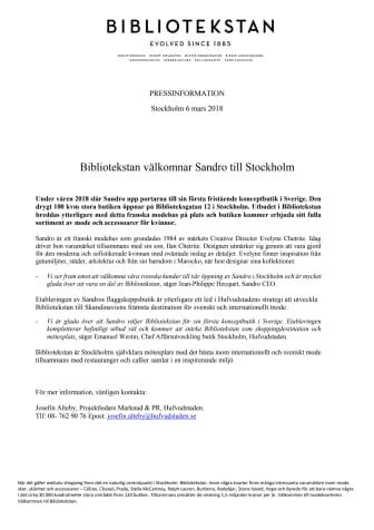 Bibliotekstan välkomnar Sandro till Stockholm
