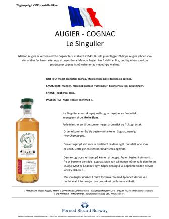 Augier - Le Singulier, produktinfo