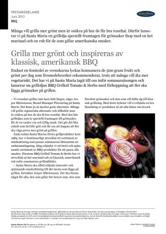 Grilla mer grönt och inspireras av klassisk, amerikansk BBQ