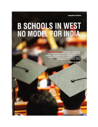 Education Insider : B Schools In West No Model for India