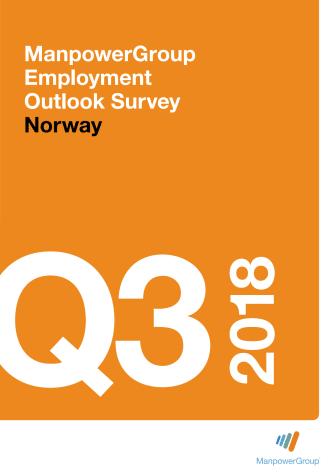 - Økt optimisme og flere prosjekter: ManpowerGroups arbeidsmarkedsbarometer Q3 2018